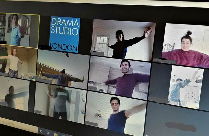 An online warm-up with Drama Studio London