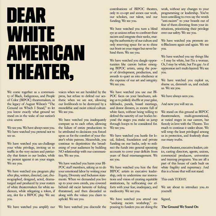 Dear White American Theater