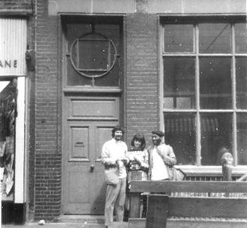 Jim Haynes (left) on Drury Lane