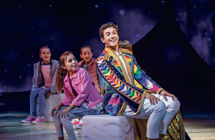 Jac Yarrow in Joseph and the Amazing Technicolor Dreamcoat. Photo: Tristram Kenton