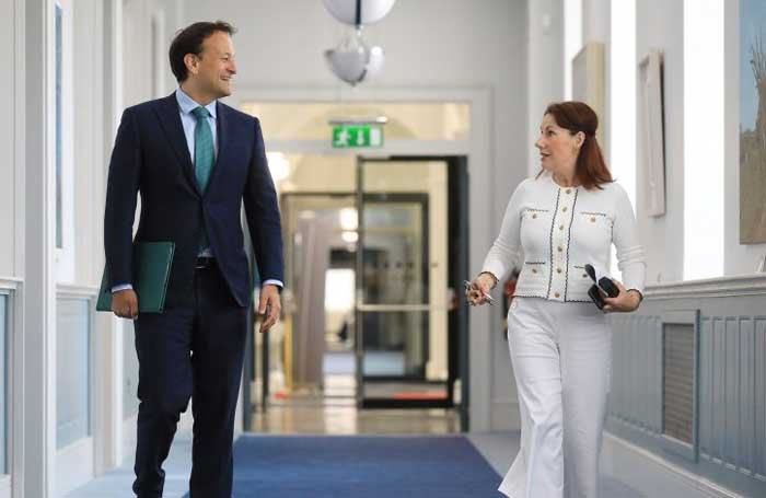 Leo Varadkar and culture minister Josepha Madigan