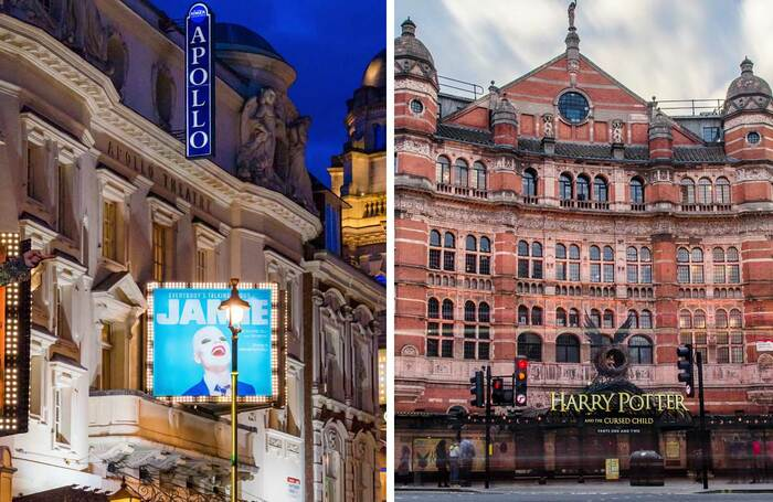 Nimax West End theatre the Apollo and the Palace. Photos: Shutterstock