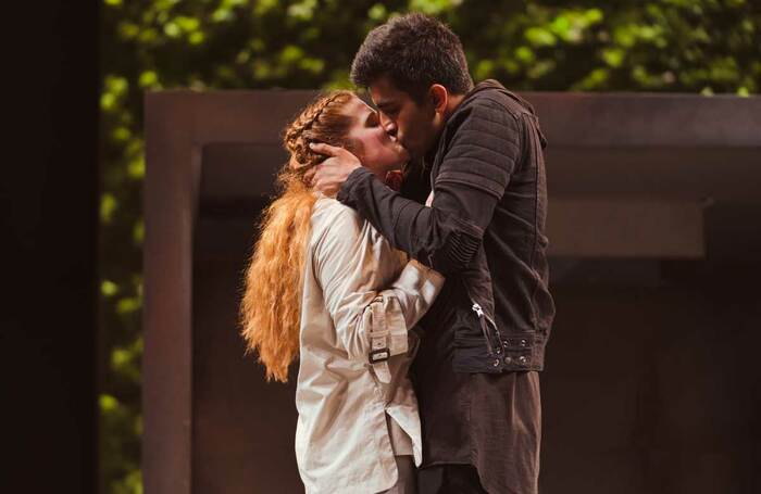 Karen Fishwick and Bally Gill in the RSC's 2018 Romeo and Juliet. Photo: Topher McGrillis