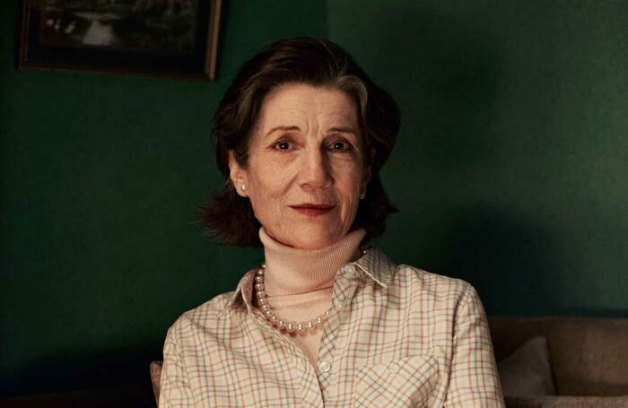 Harriet Walter in Talking Heads – Soldiering On. Photo: Zac Nicholson/London Theatre Company