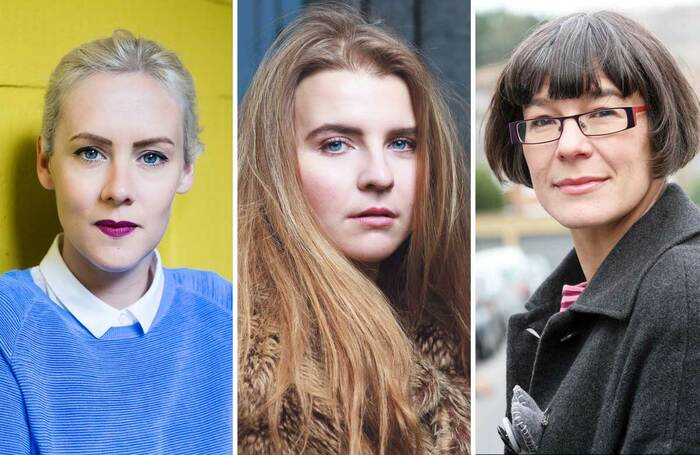 Left to right: Bryony Kimmings, Nastazja Somers and Louise Blackwell. Photo: Richard Davenport