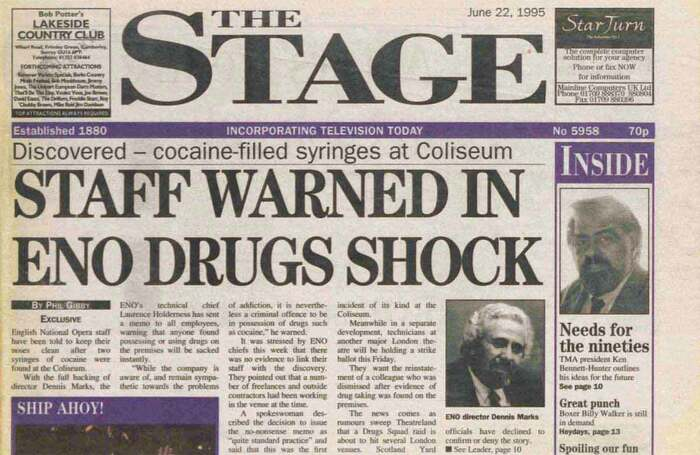 Drugs bust at the Coliseum – 25 years ago in The Stage