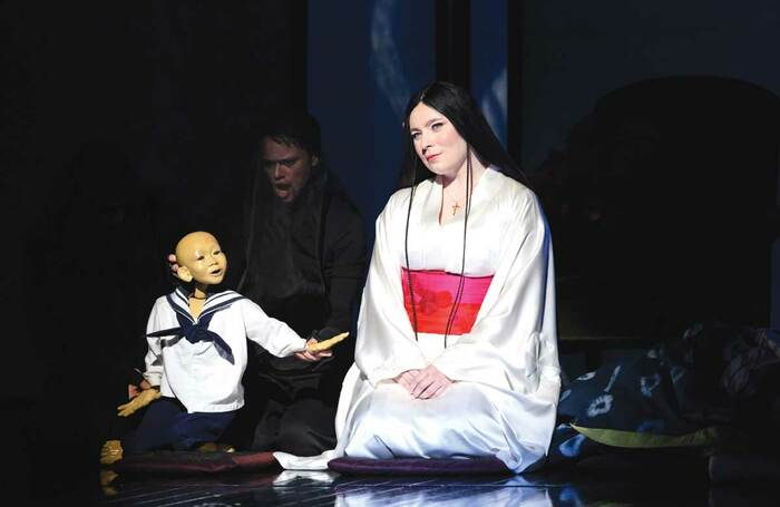 Natalya Romaniw in ENO's Madam Butterfly in early 2020. Photo: Jane Hobson