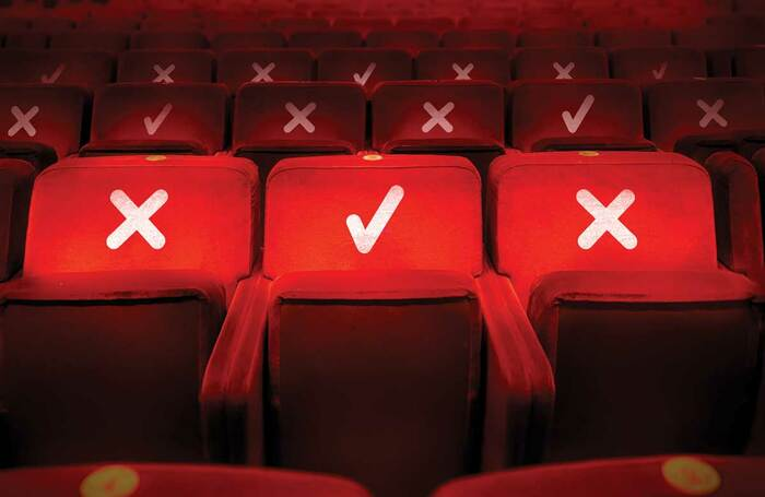 Socially distanced theatre seats. Photo: Shutterstock