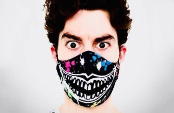 Coronavirus: The Grinning Man face masks go on sale for charity