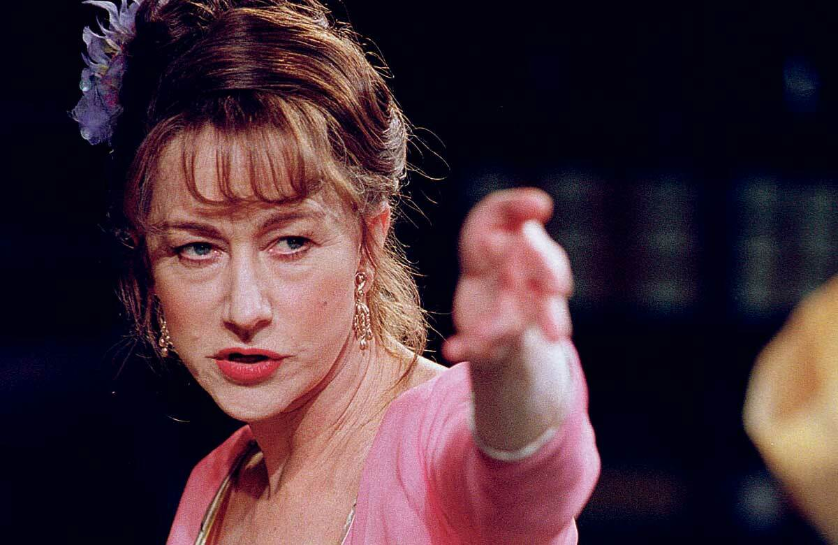 Helen Mirren in Orpheus Descending, which opened at the Donmar Warehouse on June 27, 2000