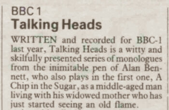 Alan Bennett's Talking Heads review – 32 years ago in The Stage