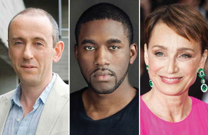 Nicholas Hytner (photo: Charlotte MacMillan), Gershwyn Eustache Jnr and Kristin Scott Thomas (photo: Shutterstock)