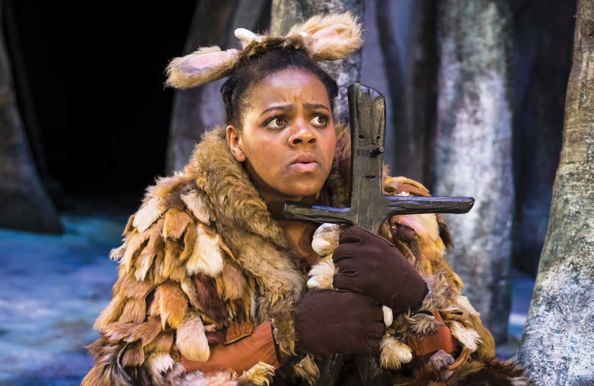 Althea Burey in The Gruffalo's Child, 2018. Photo: Lesley Cook