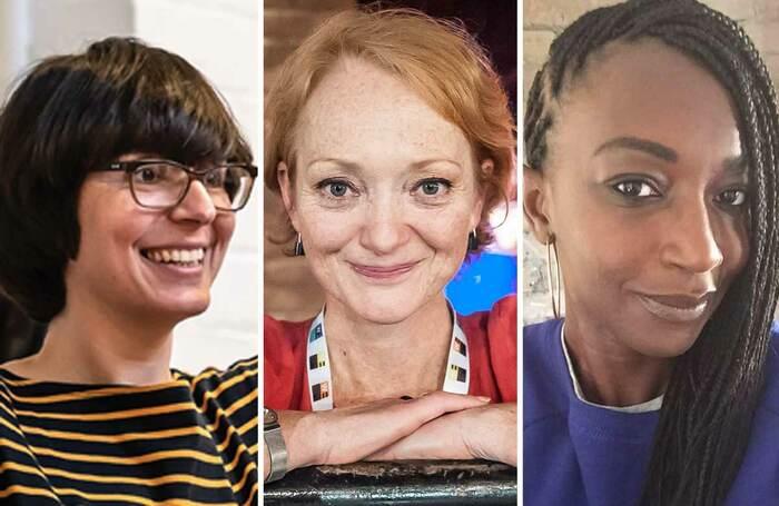 Adele Thomas (photo: Clive Barda), Stella Duffy (photo: Craige Barker) and Chinonyerem Odimba