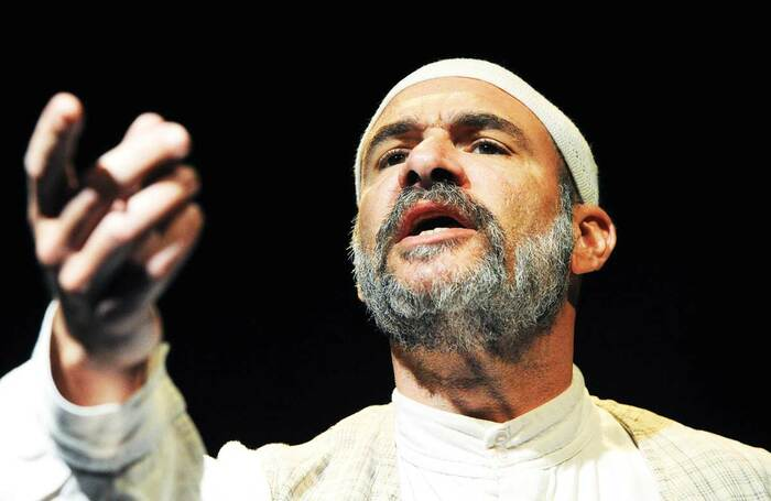 Demosthenes Chrysan in Aftermath, which opened July 8, 2010 at Old Vic Tunnels