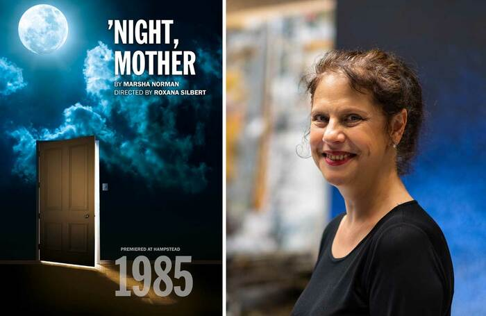 Poster for 'Night, Mother and director Roxana Silbert (photo: Kris Askey)