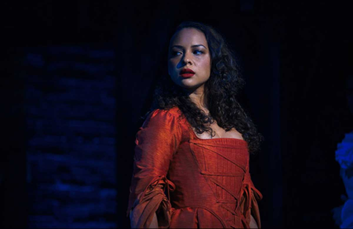Jasmine Cephas Jones in Hamilton. Photo: Nevis Productions/Disney Plus