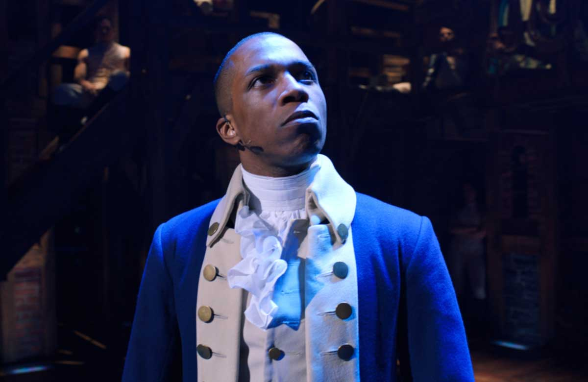 Leslie Odom Jr in Hamilton. Photo: Nevis Productions/Disney Plus