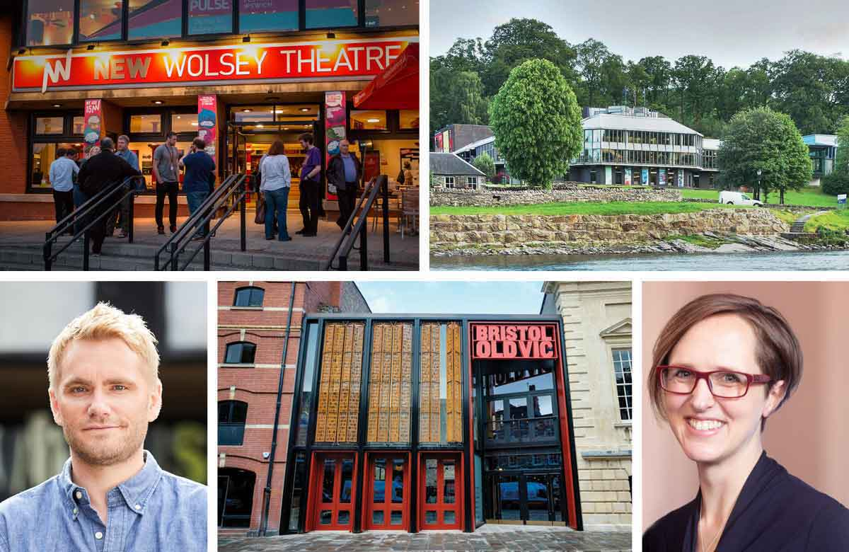 Ipswich's New Wolsey Theatre, Pitlochry Festival Theatre, Theatr Clwyd artistic director Tamara Harvey, Bristol Old Vic, Nottingham Playhouse artistic director Adam Penford