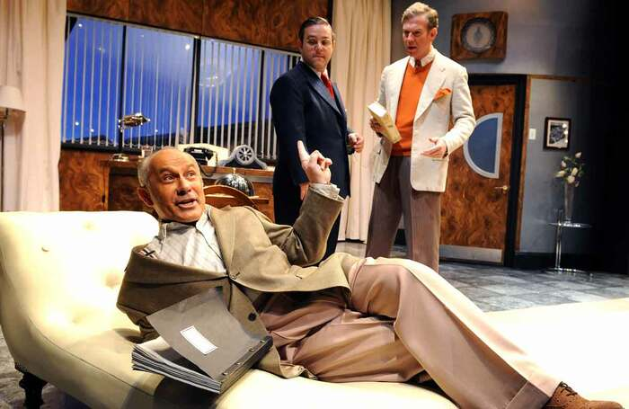 Nicholas Woodeson, Andy Nyman and Steven Pacey in Moonlight & Magnolias