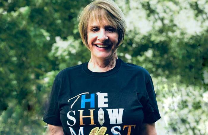 Patti Lupone in a Show Must Go On T-shirt