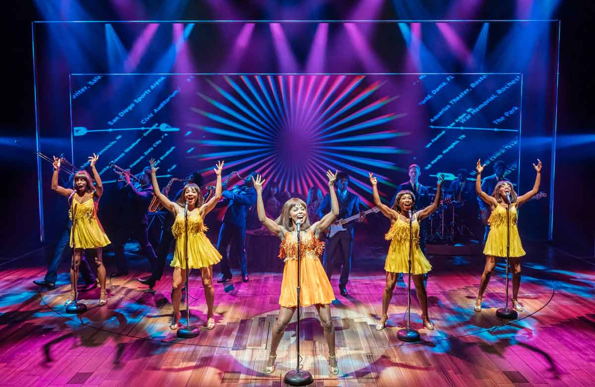 Adrienne Warren and the cast of Tina: The Tina Turner Musical. Photo: Manuel Harlan
