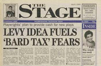 Tax on Shakespeare and classic plays – 25 years ago in The Stage