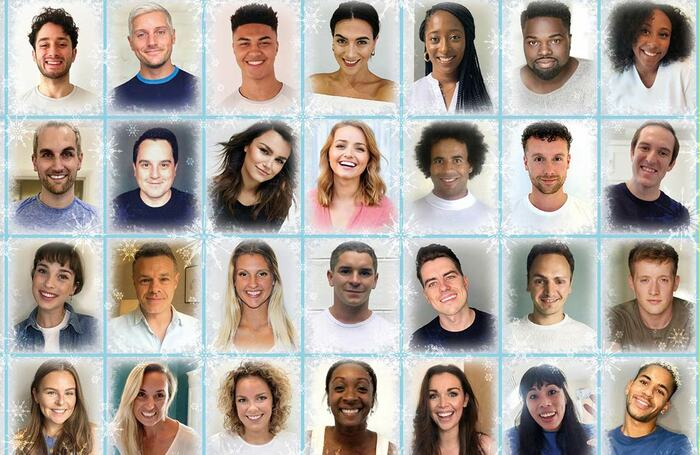 Some of the West End cast of Frozen