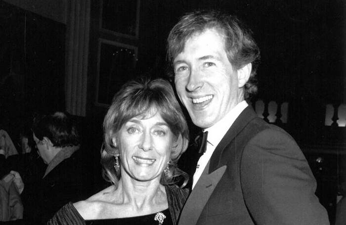 Gillian Lynne and Peter Land at the opening of The Phantom of the Opera on Broadway in 1988. Photo: Paul Smith