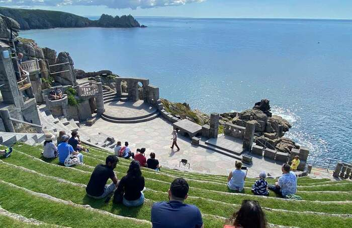 Outdoor venues such as Cornwall's Minack Theatre are welcoming audiences again, but the guidelines for the future reopening of indoor theatres present serious challenges. Photo: Lynn Batten