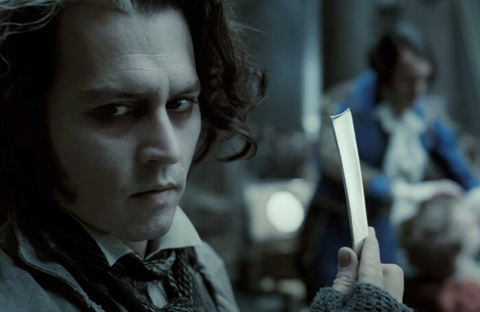 Johnny Depp in Sweeney Todd. Photo: YouTube