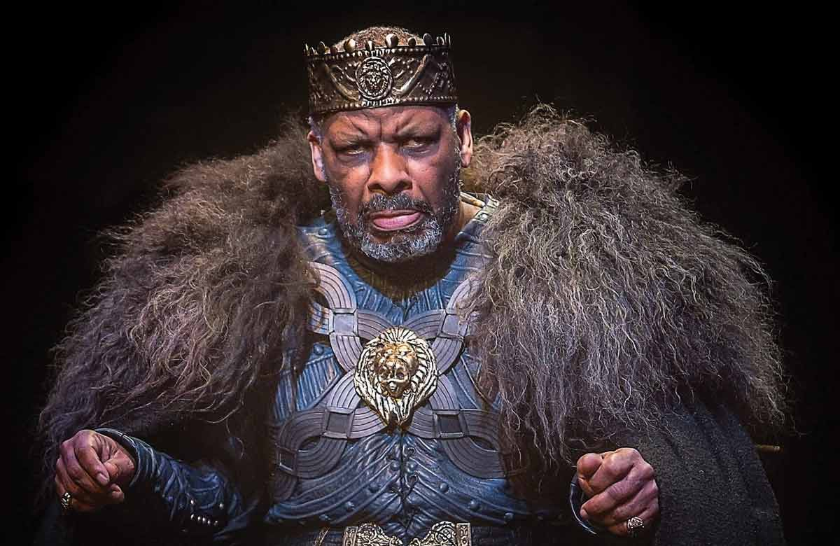 Don Warrington in King Lear, directed by Michael Buffong, at the Royal Exchange in 2016. Photo: Jonathan Keenan