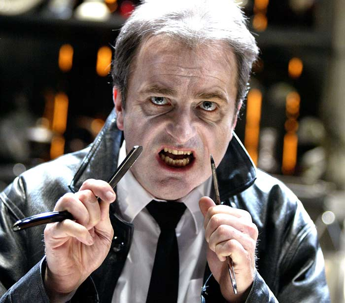 Paul Hegarty in Sweeney Todd, which opened at Trafalgar Studios on July 27, 2004