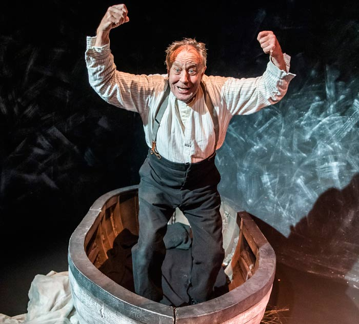 Malcolm Rennie in Shackleton's Carpenter, which opened at Jermyn Street Theatre on  July 29, 2019