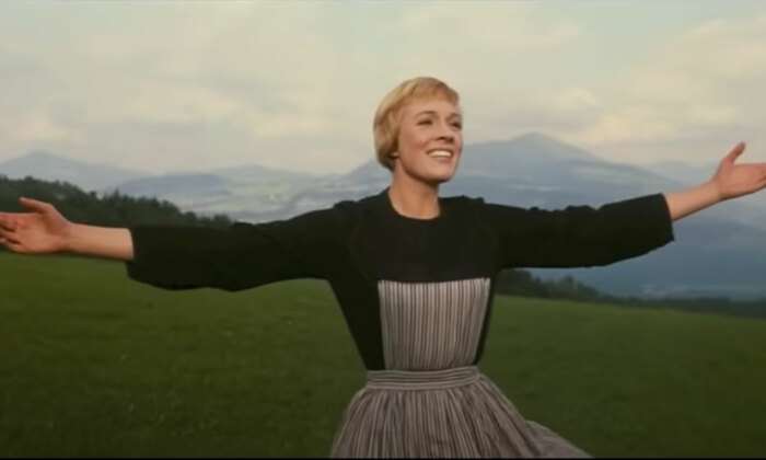 Julie Andrews in The Sound of Music. Photo: YouTube