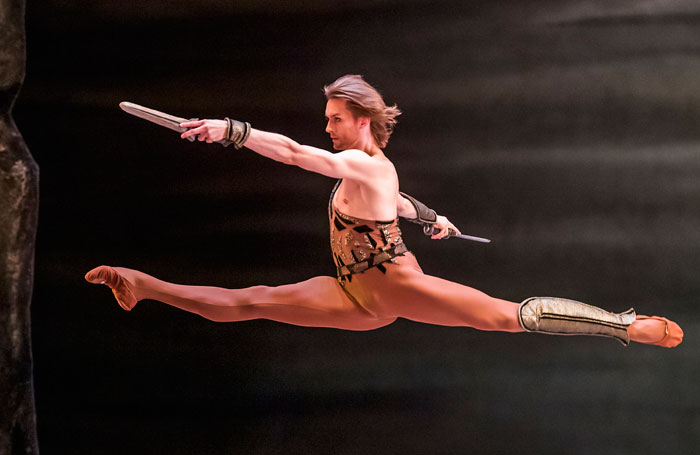 Denis Rodkin in Spartacus by the Bolshoi Ballet, which opened at the Royal Opera House on July 29, 2019
