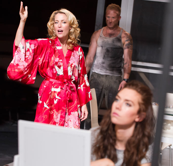 Ben Foster, Gillian Anderson and Vanessa Kirby in A Streetcar Named Desire, which opened at the Young Vic on July  28, 2014