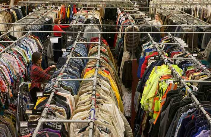 Warehouse of costume suppliers Angels