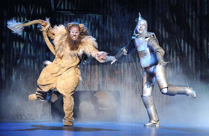 Gary Wilmot and Adam Cooper in The Wizard of Oz, which opened at the Royal Festival Hall on July 29, 2008