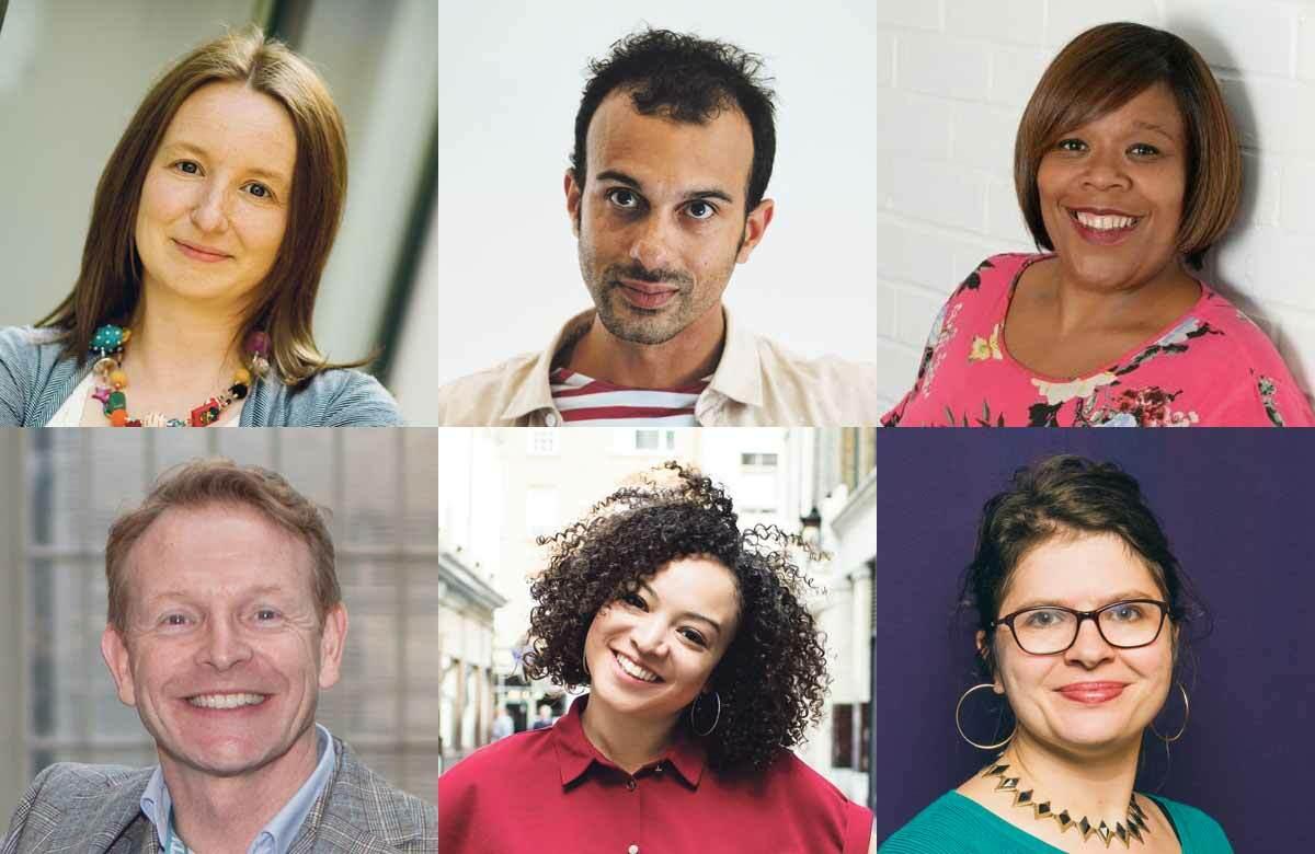 Top row: Sarah Brigham, Matthew Xia, Stella Kanu. Bottom row: Paul Hendy, Lynette Linton, Eleanor Lloyd