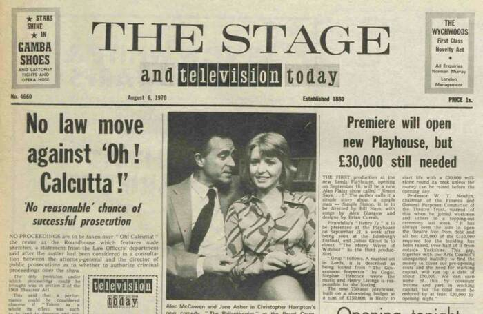 No cuts to nude revue – 50 years ago in The Stage
