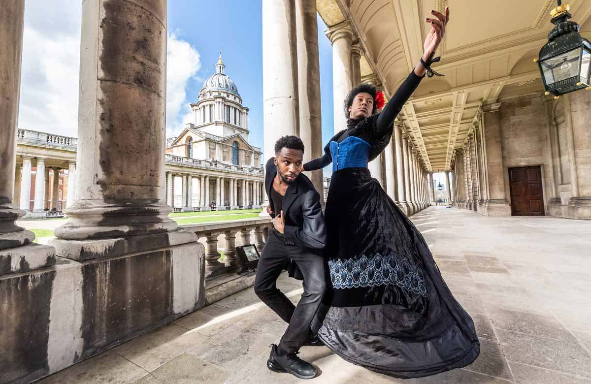 Rhys Dennis and Cherilyn Albert in Black Victorians. Photo: Stephen Wright