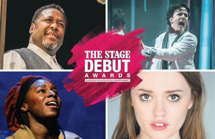 Clockwise from top left: Wendell Pierce in Death of a Salesman (photo: Tristram Kenton), Daniel Monks in Teenage Dick (photo: Marc Brenner), Aimee Lou Wood and Shan Ako in Les Misérables (photo: Michael Le Poer Trench)