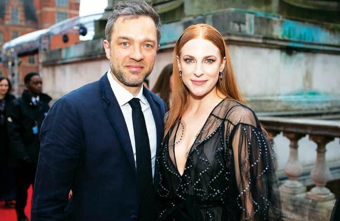 Hadley Fraser and Rosalie Craig at the Olivier Awards in 2019. Photo: Pamela Raith
