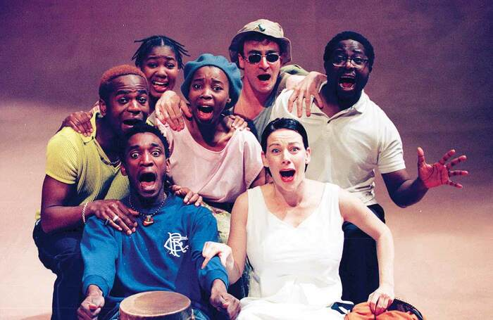 Scene from The Juju Girl, which ran at the Traverse Theatre during the Edinburgh Fringe in 1999. Photo: Tristram Kenton