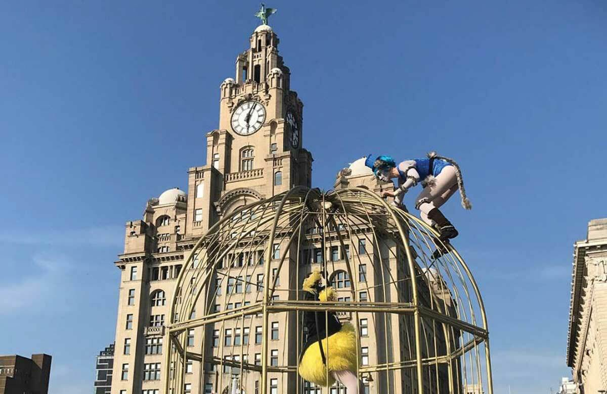 Birdcage Stage outside the Liver Building in Liverpool. Photo: Rebecca Tavernor