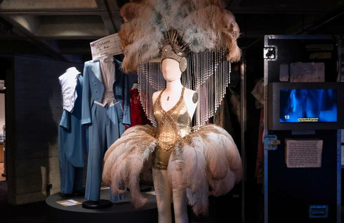 A costume from Follies at the National Theatre's exhibition. Photo: James Bellorini Photography