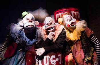 Clowning around: shows that opened in years gone by