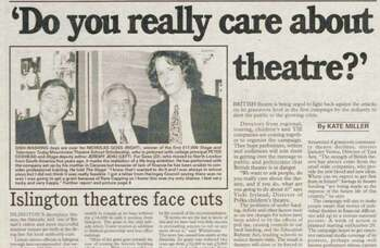 The fight to save theatre continues – 30 years ago in The Stage