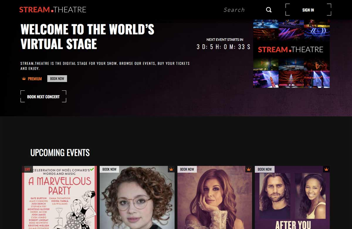 Streaming service launched to help theatres go digital